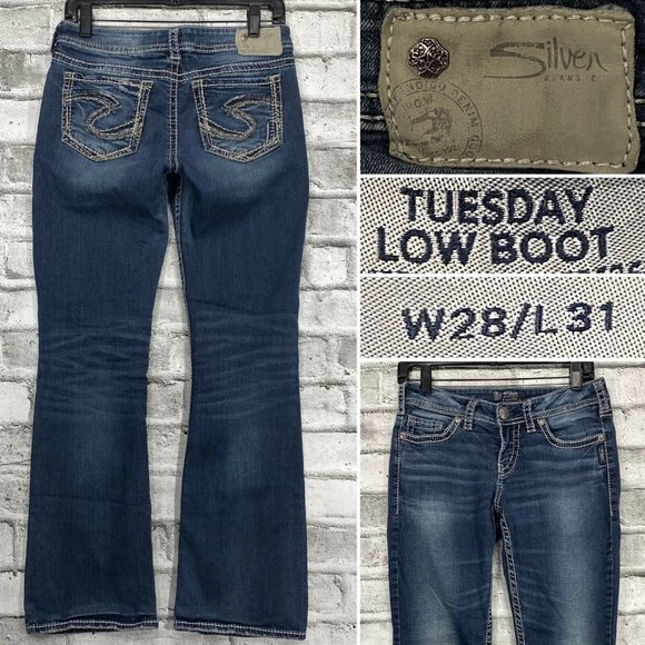 Silver Jeans Tuesday Low Boot W28 L31